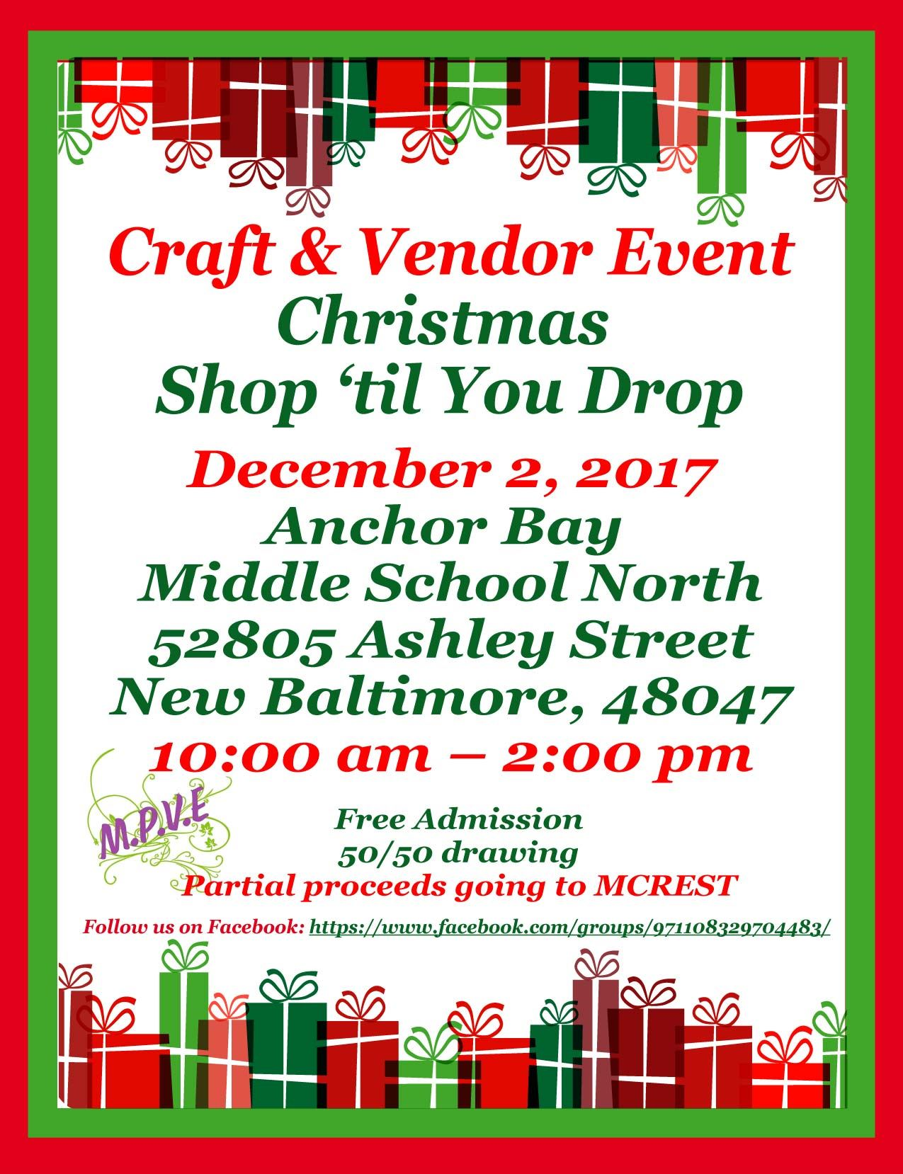 Anchor Bay Middle School Craft Show 2017